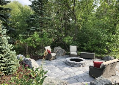Grand flagstone is a perfect product for irregular shaped patios designed to blend into nature