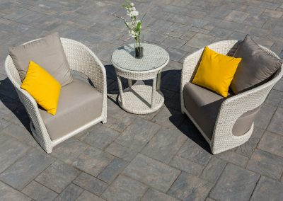 Picture perfect paver patio for afternoon tea