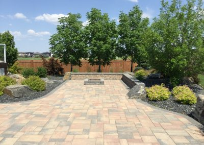 Beautiful Ash trees give this patio area an almost tropical look and feel